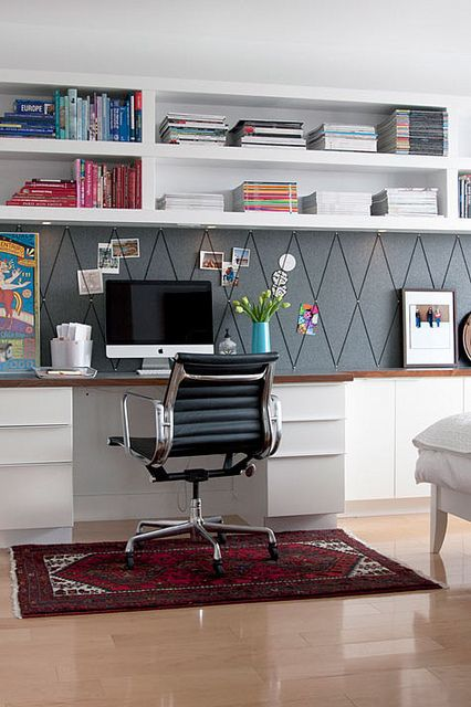 neatly organised home office