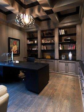 coffered cosmopolitan home office