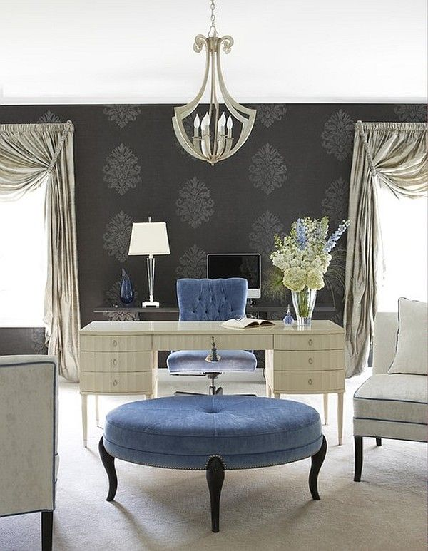 Modish glam home office design