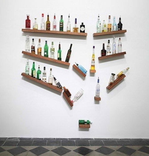 Add A Healthy Dose Of Fun To Your Kitchen Or Dining Room With This Creatively Hilarious Floating Shelf Design