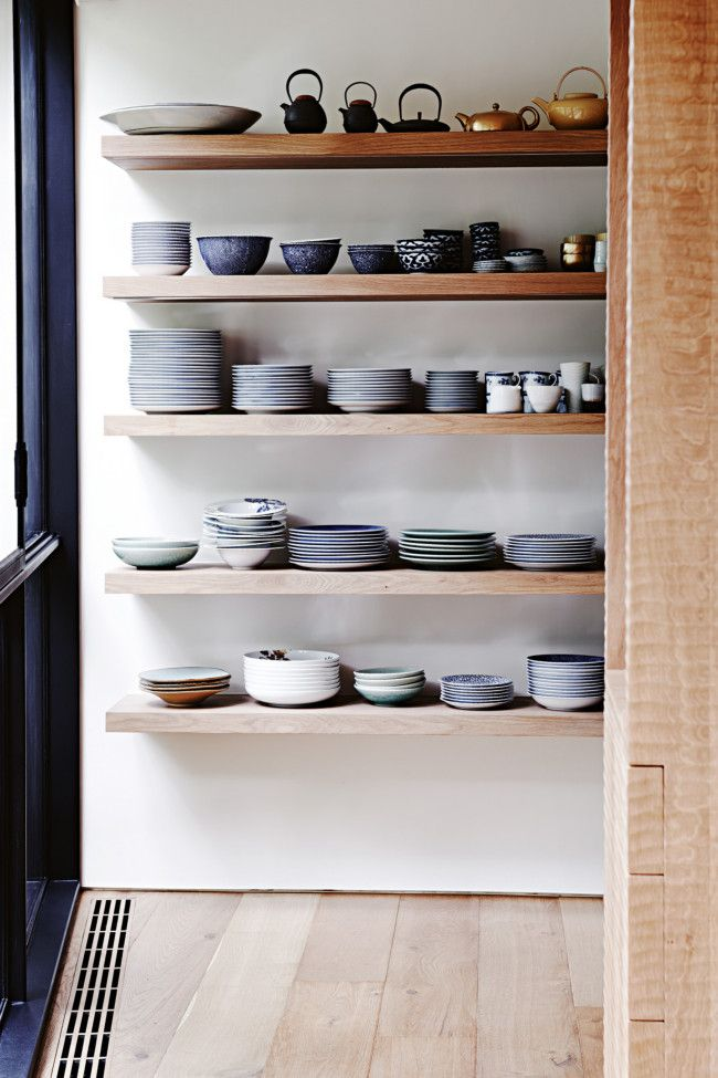 Exceptionnel Modern Pantry. Upgrade Your Stuffy Pantry With Minimalist Floating Shelves.