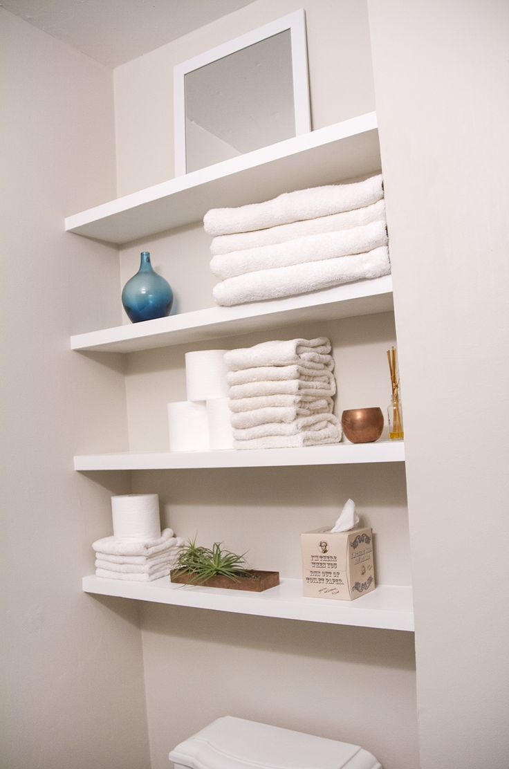 40 floating shelves for every room renoguide - Floating shelf ideas for bathroom ...
