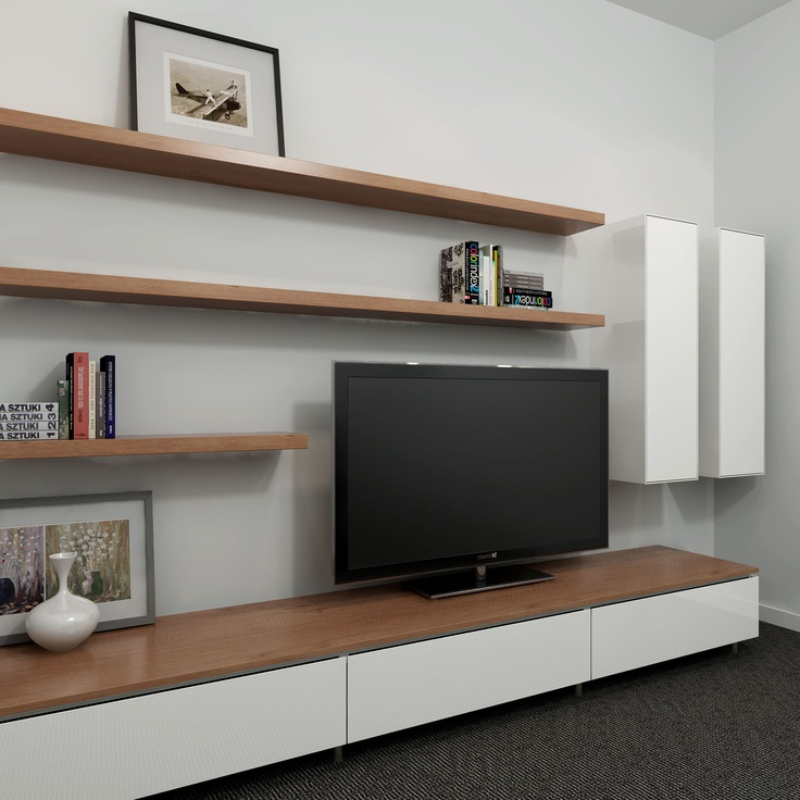 Modern Entertainment Centres Are Lean And Discreet. Give Your Living Room  Or Family A Contemporary Upgrade With This Floating Shelves And Cabinet  Ensemble.