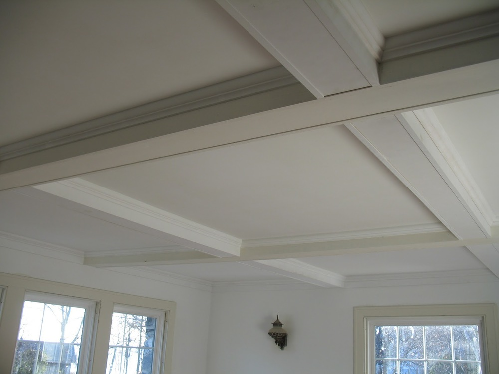 Diy coffered ceiling project renoguide for Coffered ceiling styles