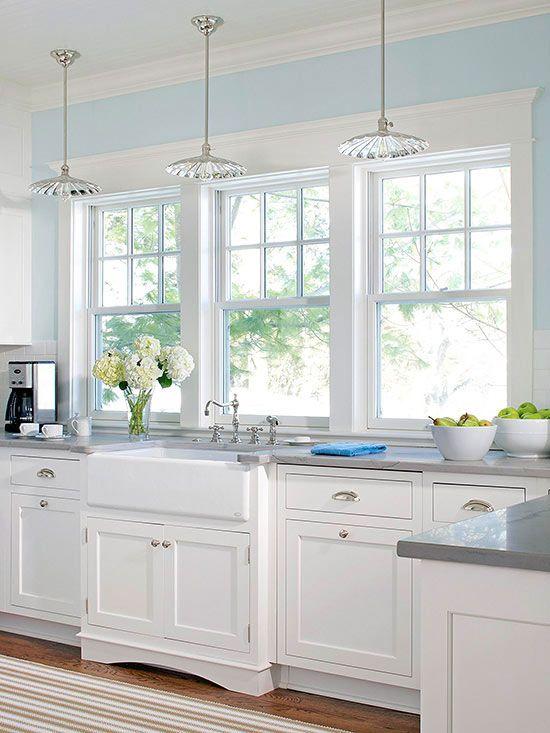 classic elegant white kitchen