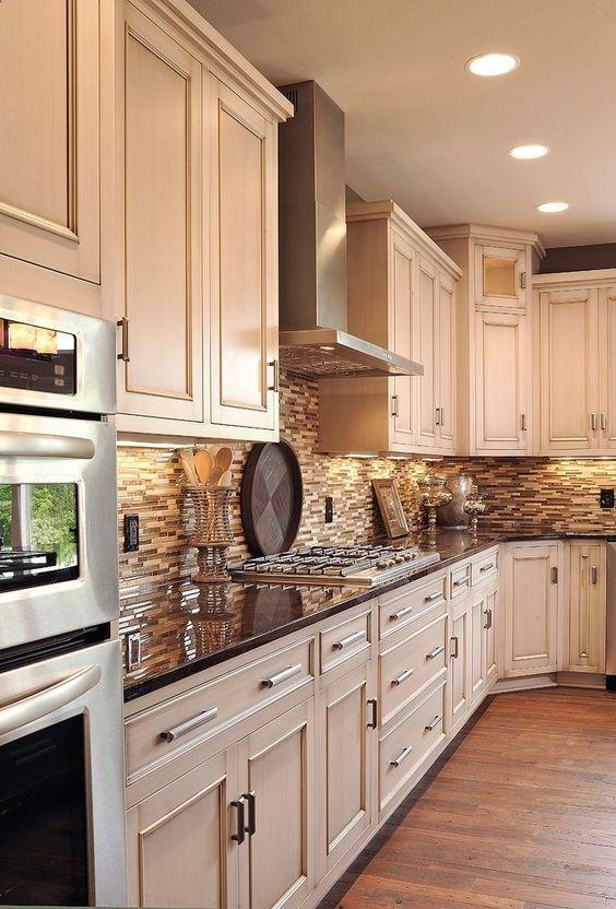 tan and copper tones kitchen