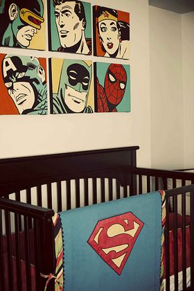 vintage superhero comic wall art