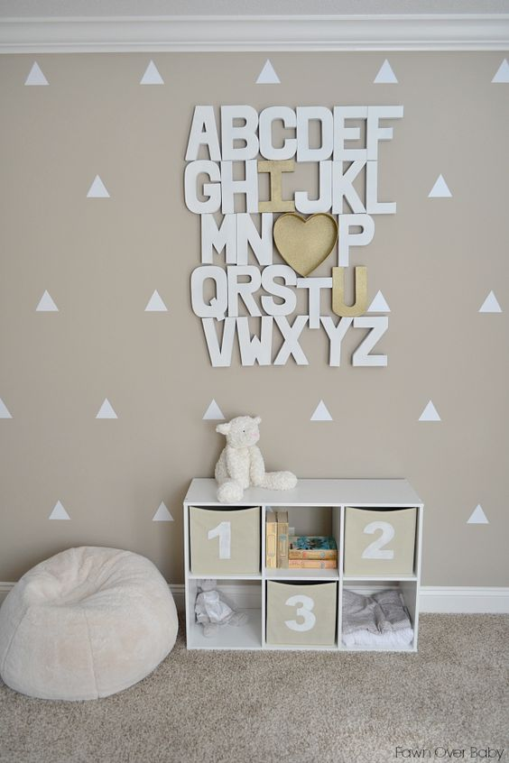 letters of the alphabet on the wall