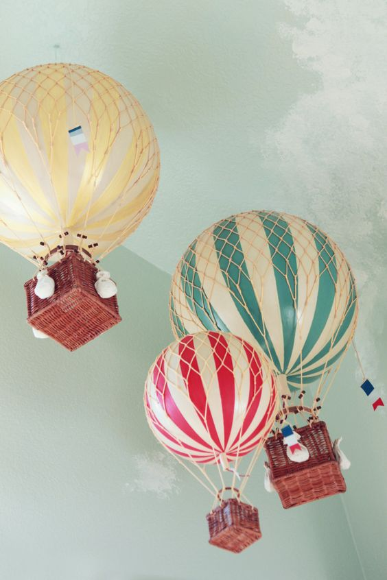 colourful air balloons decorations