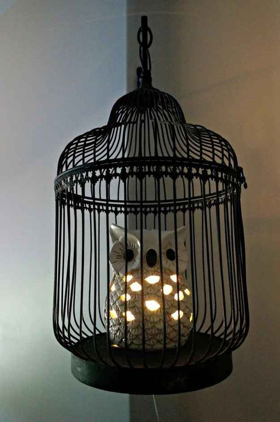 Harry Potter themed owl lamp