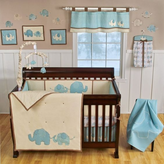 elephant themed nursery room