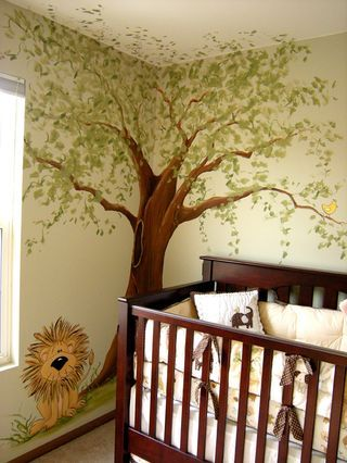 jungle themed nursery room