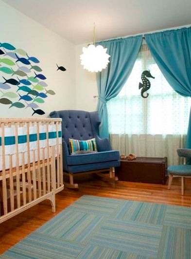 deep sea themed nursery room