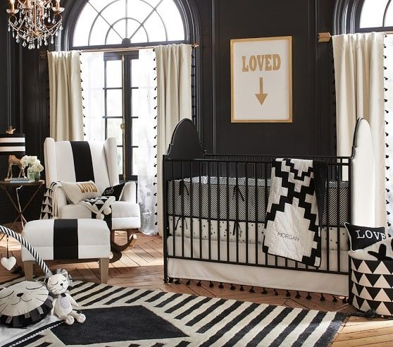 patterned gender neutral nursery room