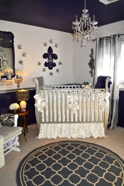 royal purple nursery room