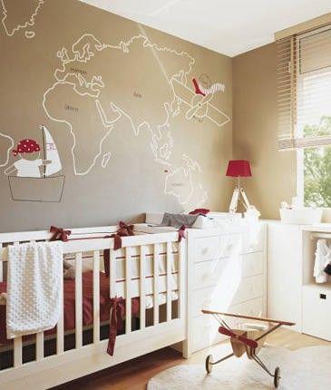 traveller's theme nursery room