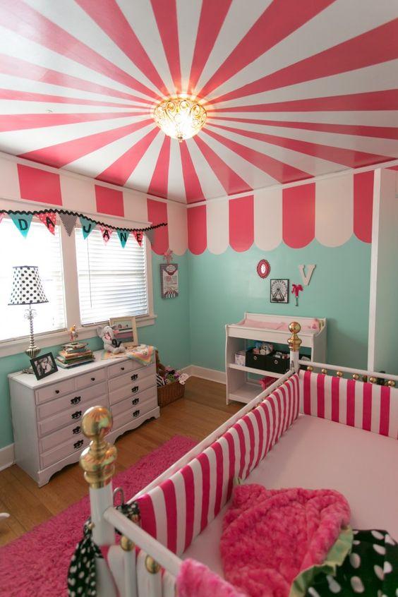 Pink carnival nursery room