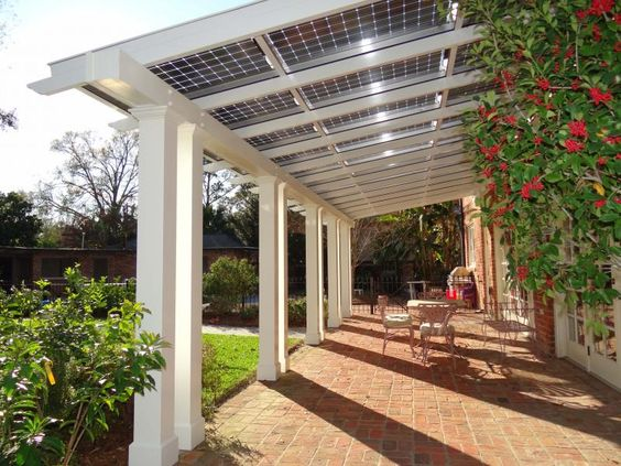 patio pergola with solar power roof - 50 Awesome Pergola Design Ideas — RenoGuide - Australian Renovation