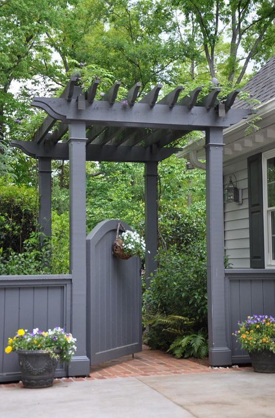 Wonderful Grey Garden Gate Pergola