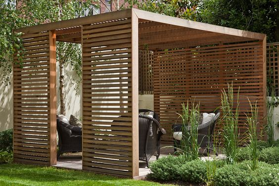 rustic garden pergola with privacy panels - 50 Awesome Pergola Design Ideas — RenoGuide - Australian Renovation