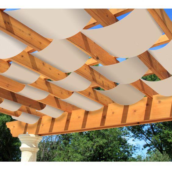 threaded canopy shade for pergola