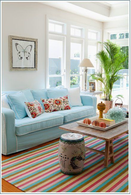 bright pastel living room