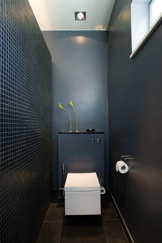modern black and white toilet