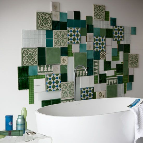 colourful tile wall art
