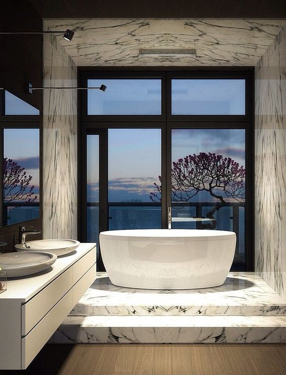 luxurious contemporary bathroom