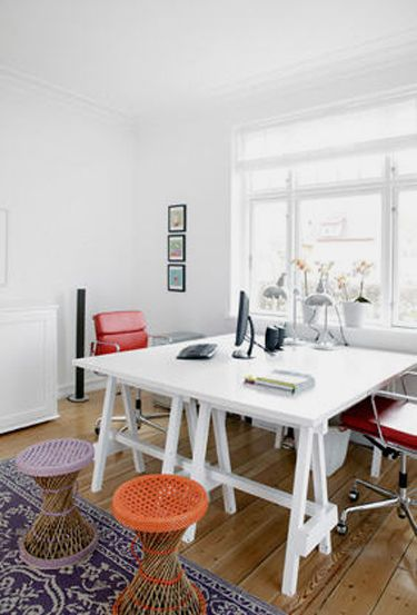 shared office space ideas. Farmhouse Home Office Design Shared Space Ideas