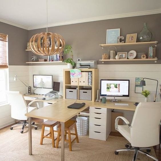 contemporary family work stations