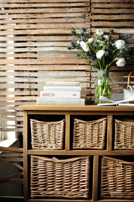 wicker basket organisers