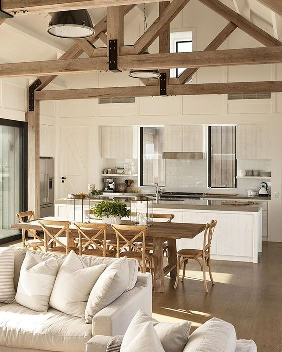 75 modern rustic ideas and designs renoguide for Modern rustic farmhouse plans