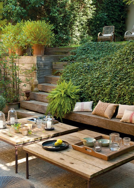 rustic outdoor living space