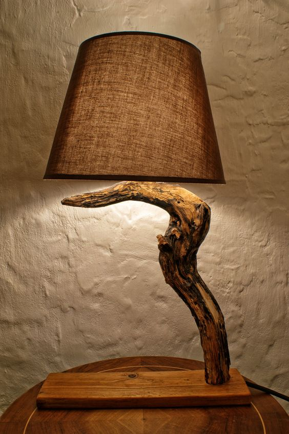 chic driftwood lamp