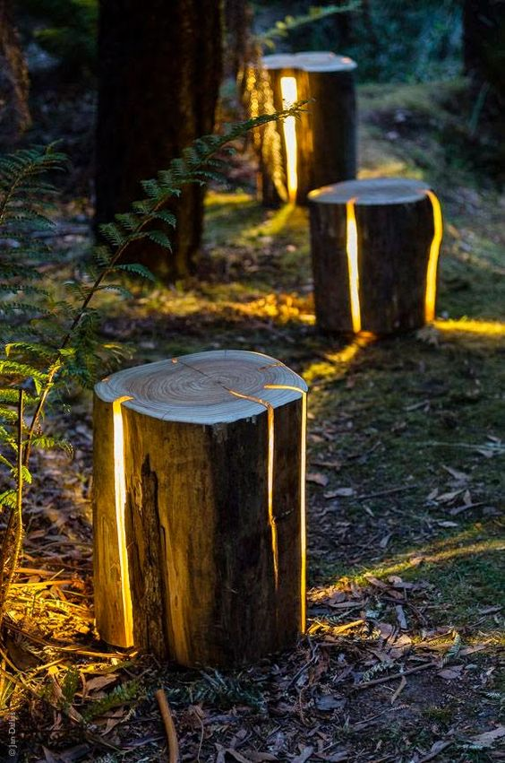 log outdoor light fixtures