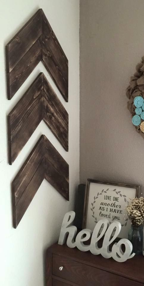 chevron arrow wall feature
