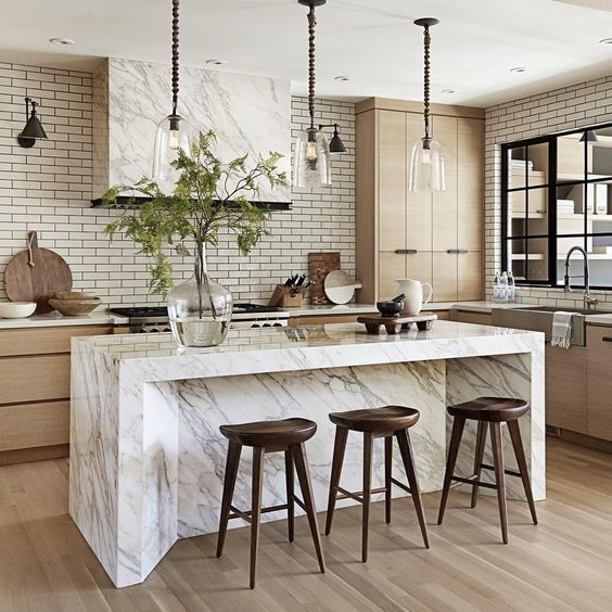 fabulous kitchen with luxurious marble