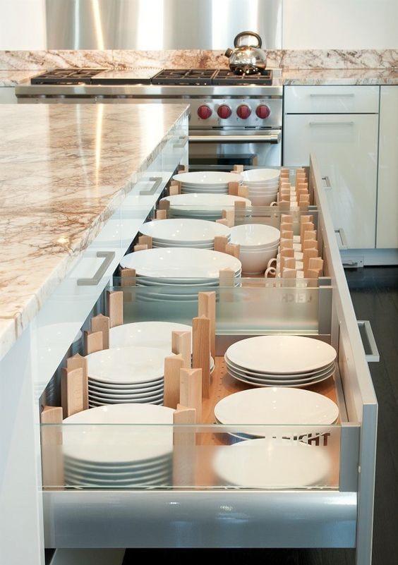 dinnerware drawers kitchen island organiser