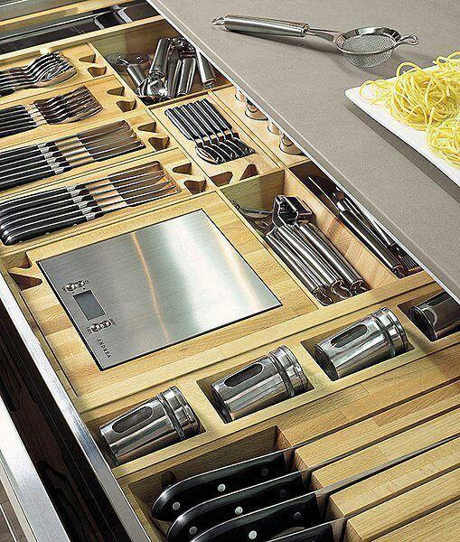 kitchen cutlery organiser drawer