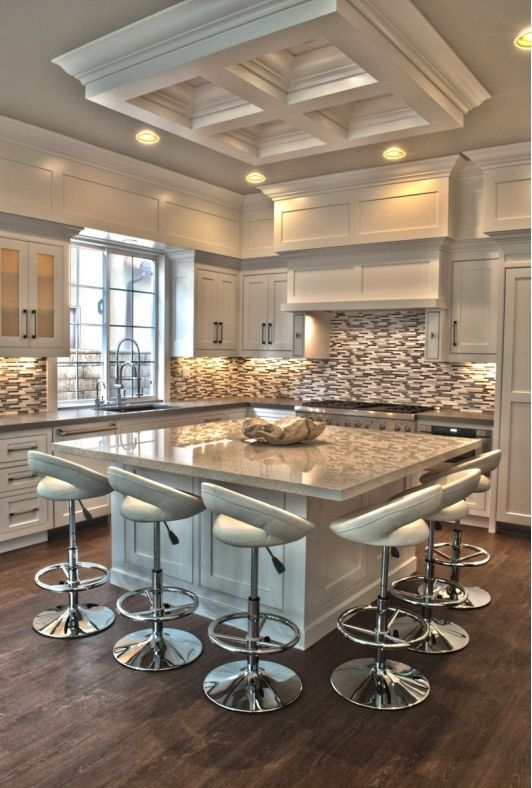 Elegant Modern Kitchen With Square Island
