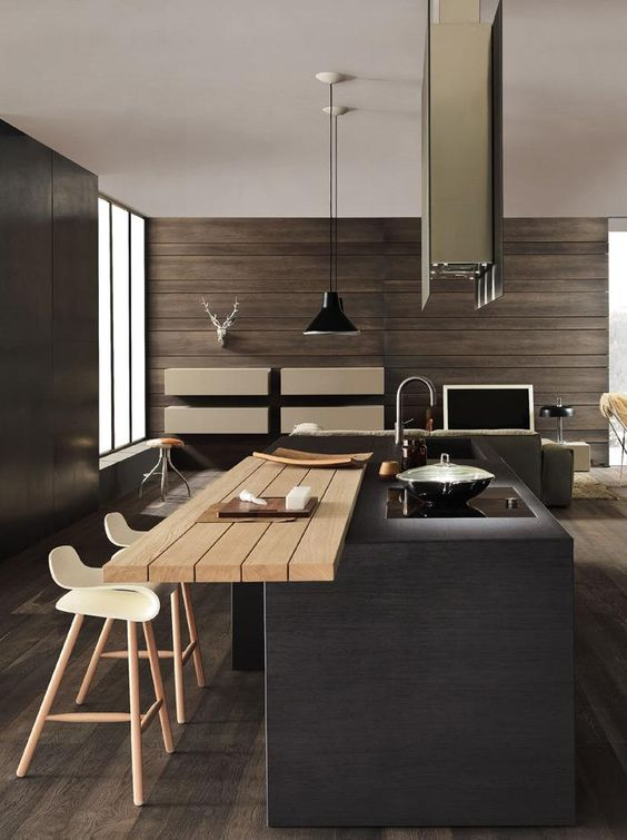 modern rustic and minimalist kitchen