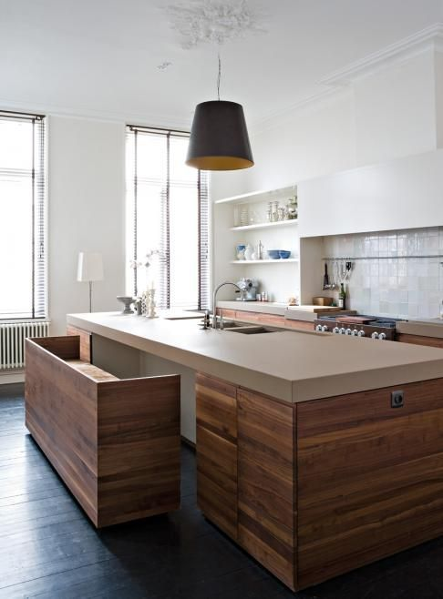 kitchen island with hideaway bench