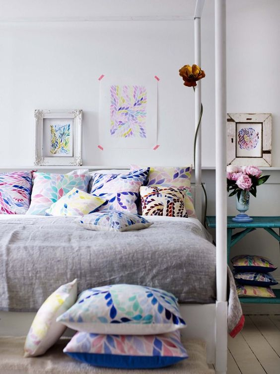 colourful master bedroom
