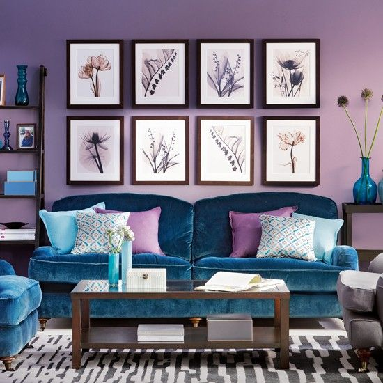 amethyst and sapphire living room