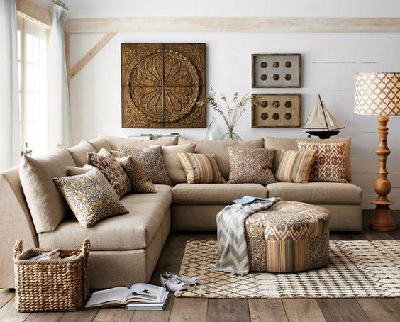 country rustic living room