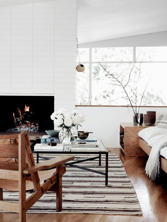 modern chalet inspired living room