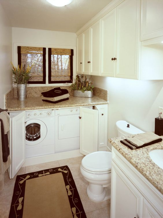 laundry and powder room in one