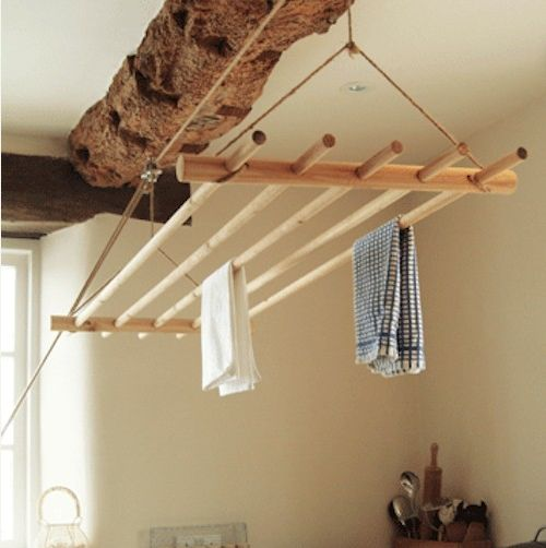pull up overhead laundry drying rack