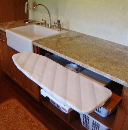 under the counter pull out ironing board